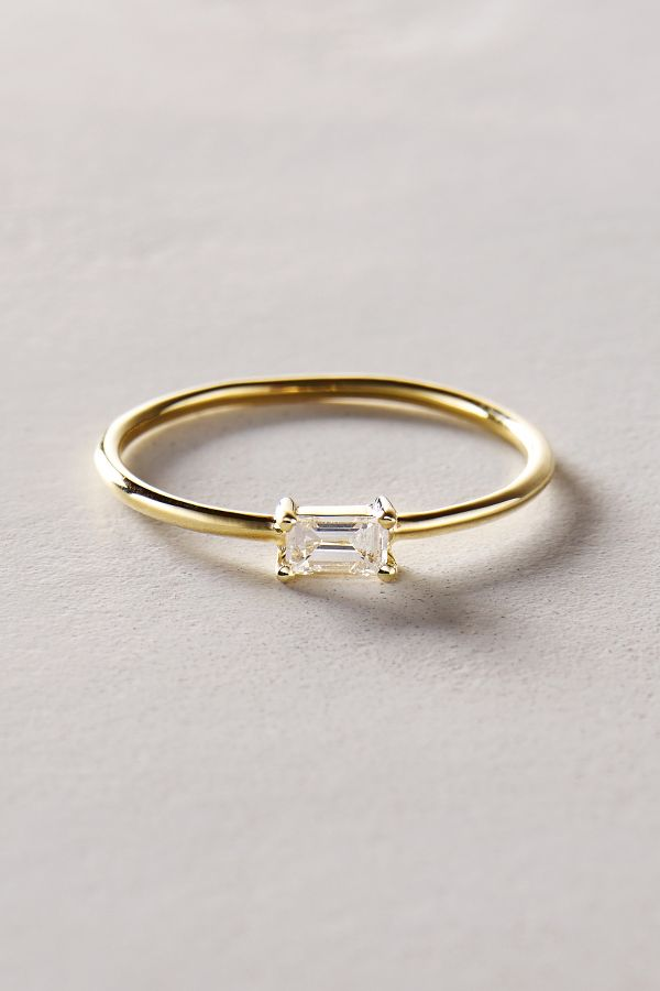 bague diamant baguette or jaune