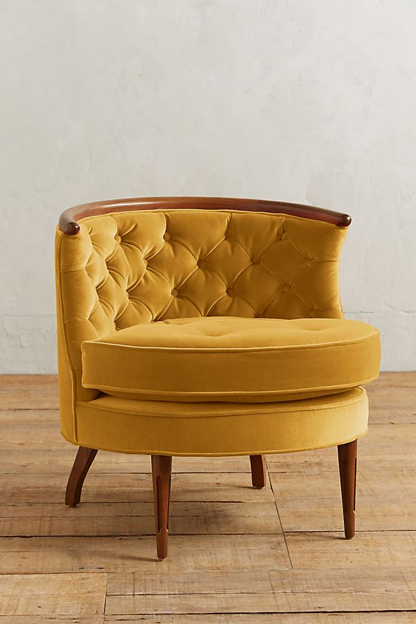 Velvet Bixby Chair