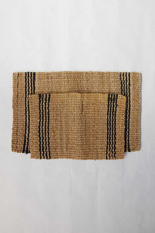 Slide View: 3: Vertical Stripe Jute Doormat
