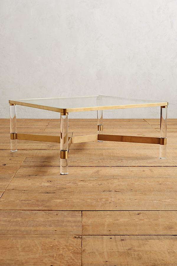 Lucite Coffee Table.Oscarine Lucite Coffee Table Square Anthropologie