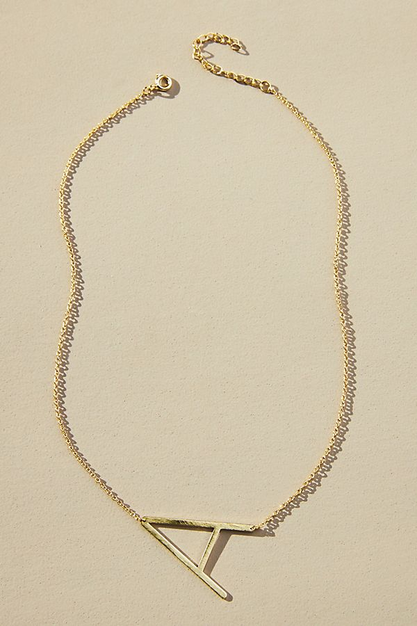 349b4abbe Block Letter Monogram Necklace | Anthropologie