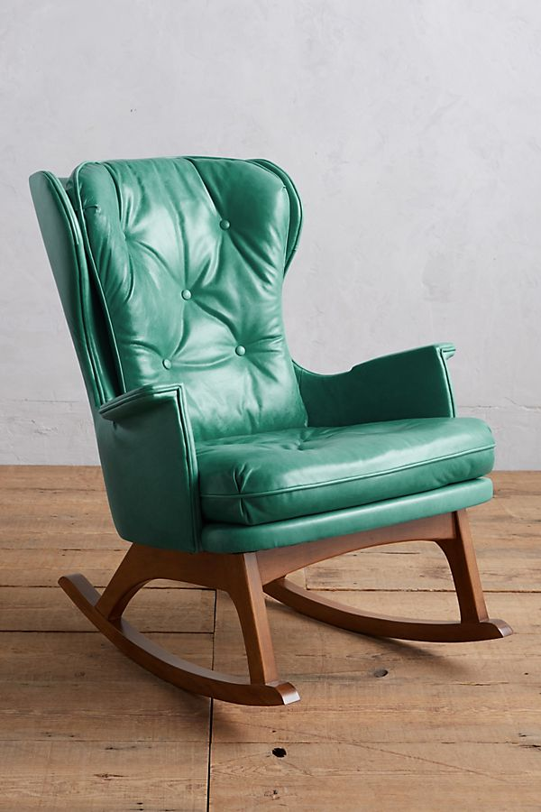 Fabulous Premium Leather Finn Rocking Chair Onthecornerstone Fun Painted Chair Ideas Images Onthecornerstoneorg