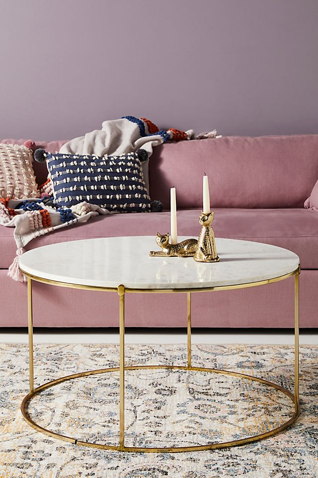 Leavenworth Marble Coffee Table Anthropologie