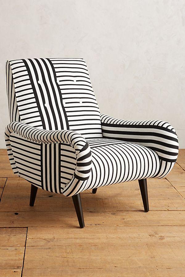 Banded Stripe Losange Chair Anthropologie