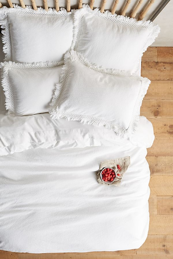 Slide View: 2: Matelasse Liora Duvet Cover