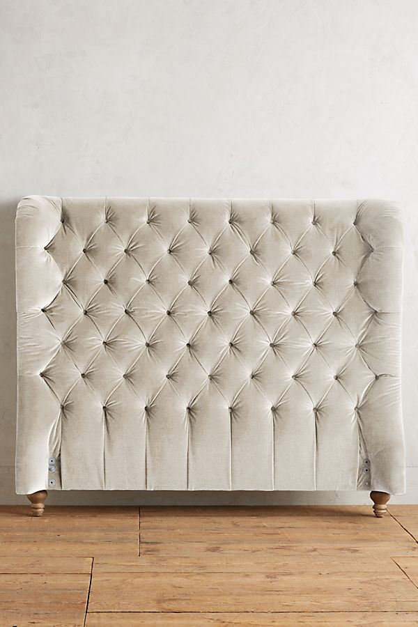 lowest price 7d61b 0ae02 Velvet Tufted Wingback Headboard