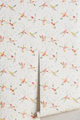 Anthropologie Plumed Crest Wallpaper by Betty Hatchett
