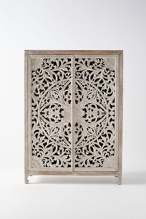 Slide View: 3: Handcarved Lombok Armoire