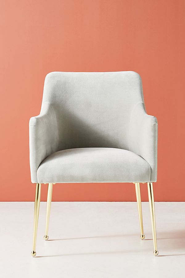 Slide View: 1: Velvet Elowen Armchair
