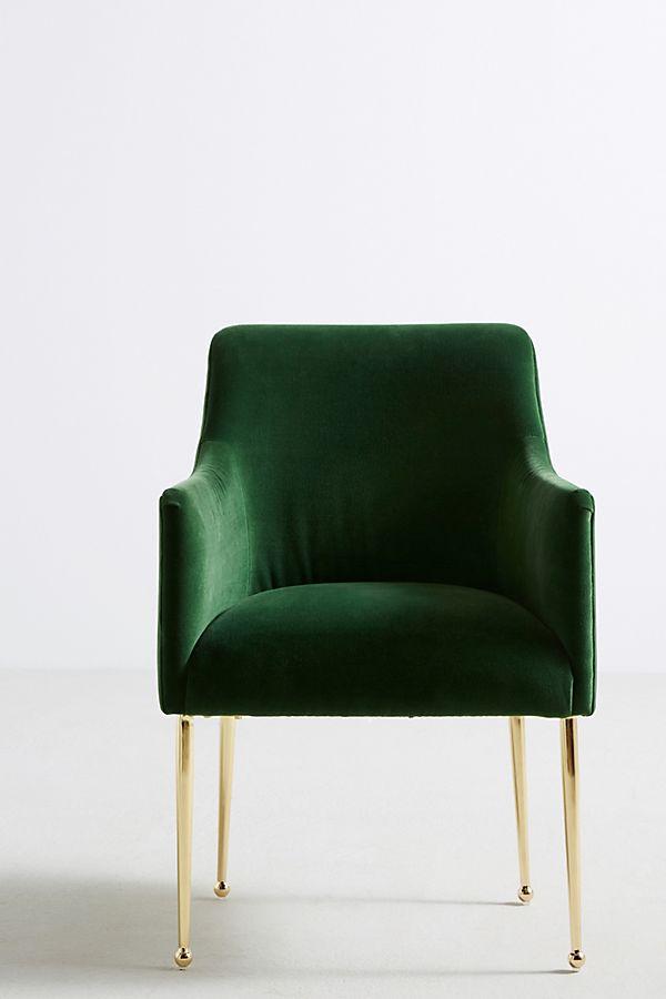 Slide View: 1: Velvet Elowen Armchair