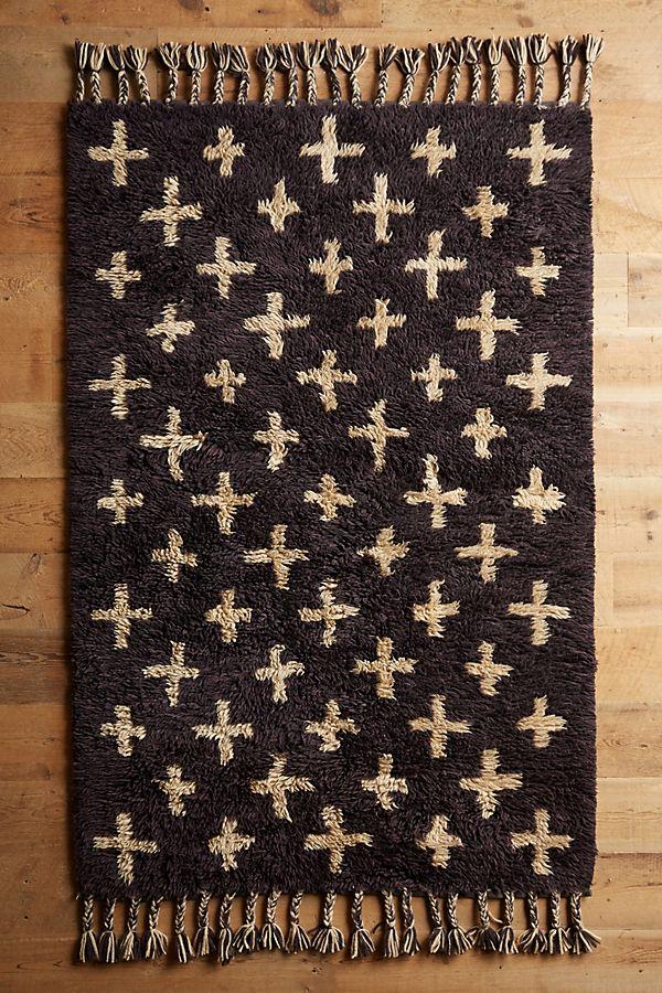 Hand Woven Moroccan Cross Rug