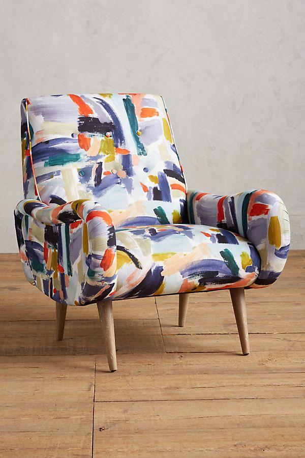 Superb Brushstroke Printed Losange Chair Unemploymentrelief Wooden Chair Designs For Living Room Unemploymentrelieforg