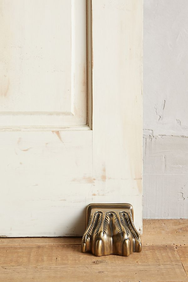 Slide View: 1: Antiqued Claw Doorstop