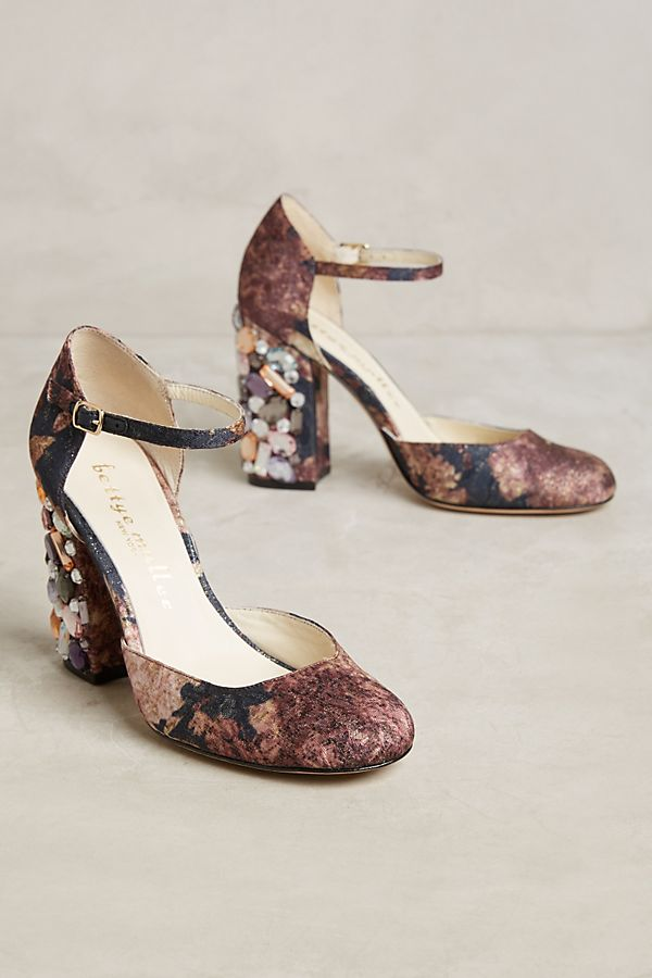 90406685e Bettye Muller Bejeweled Ankle Strap Heels | Anthropologie