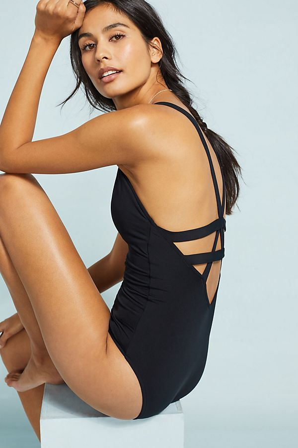 Slide View: 1: Seafolly Deep-V One-Piece Swimsuit