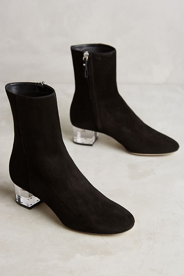 0a7cc60d603 Deimille Noha Lucite Heel Booties