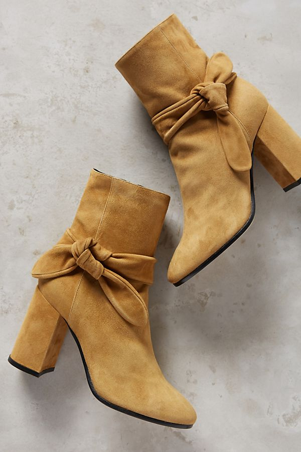 pretty nice 60c7c bba64 Deimille Bowed Suede Ankle Boots
