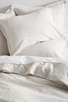 Relaxed Cotton Linen Duvet Cover Anthropologie