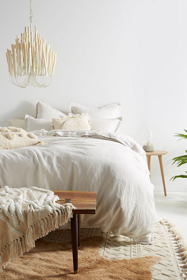 Slide View 1 Relaxed Cotton Linen Duvet Cover