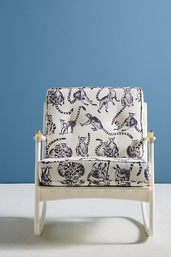 Superb Lemur Printed Haverhill Rocking Chair Onthecornerstone Fun Painted Chair Ideas Images Onthecornerstoneorg