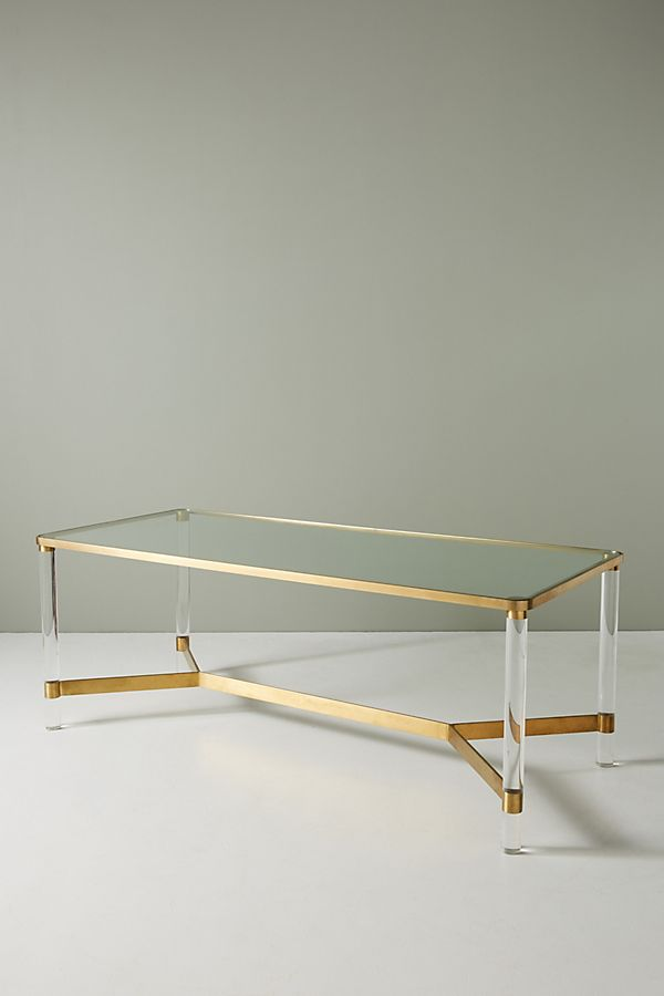 Oscarine Lucite Dining Table Anthropologie