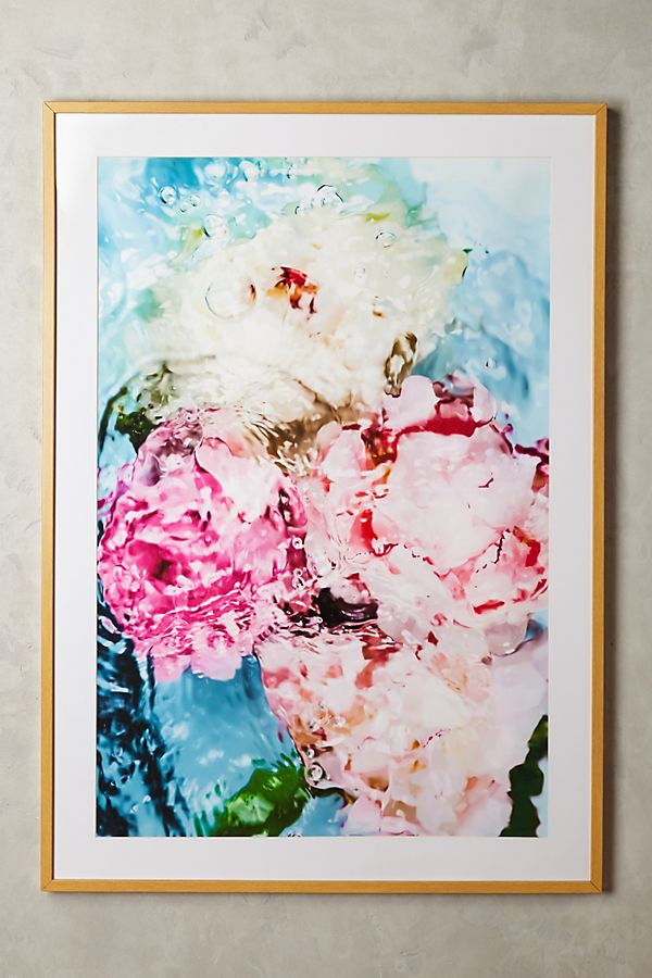 Slide View: 1: Abstract Floral No. 5 Wall Art