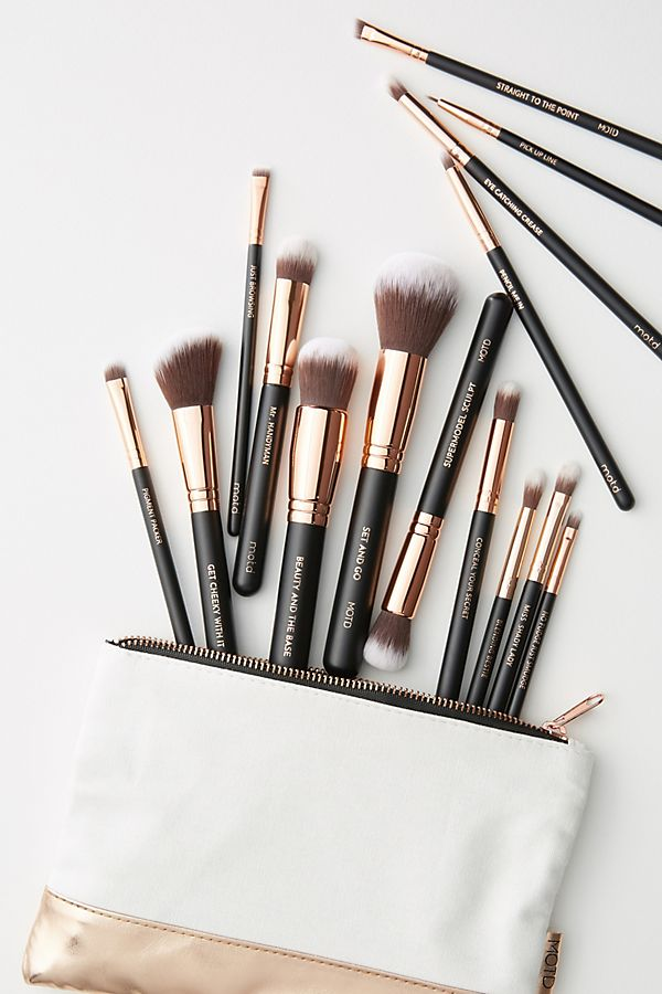 Slide View: 1: M.O.T.D. Lux Vegan Makeup Brush Set