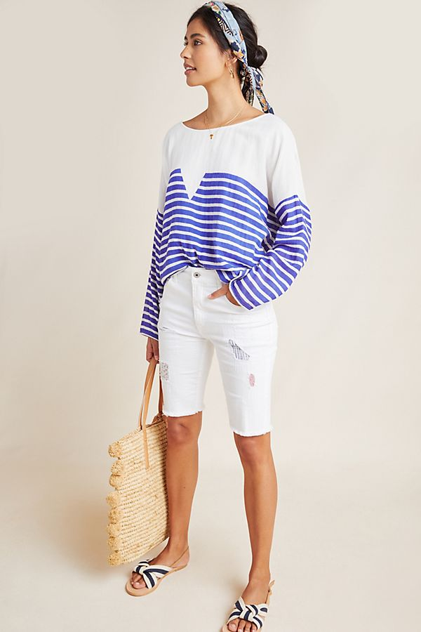 Slide View: 1: Belleville Striped Blouse