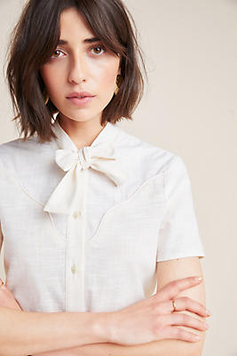 Slide View: 1: Corey Lynn Calter Bow-Tied Blouse