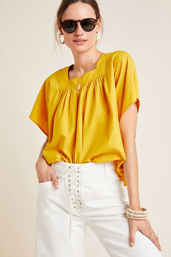 Slide View: 1: Frye x Anthropologie Marin Blouse