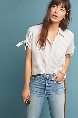 Slide View: 1: Paige Avery Striped Top