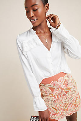 Slide View: 1: Paige Anguilla Ruffled Blouse