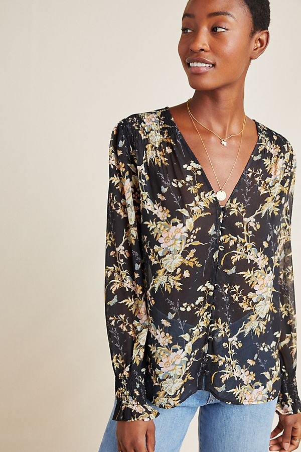 Slide View: 1: Paige Calliope Toile Blouse