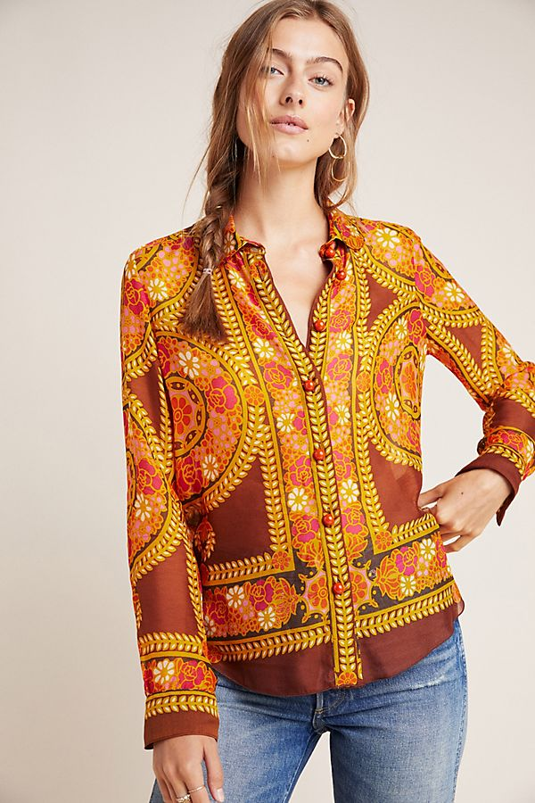 Slide View: 1: Anna Sui Berkeley Buttondown