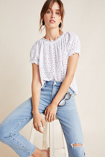 22b7a825fa1 Lace Tops & Blouses | Anthropologie