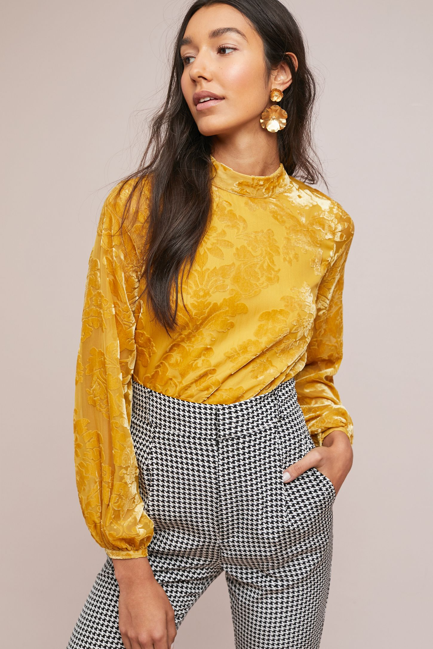 bf2050f00 Yumi Kim Velvet Blouse | Anthropologie