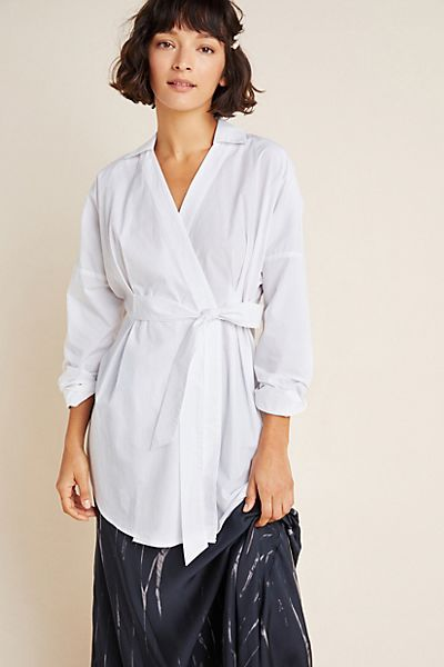 Mia Wrapped Poplin Tunic