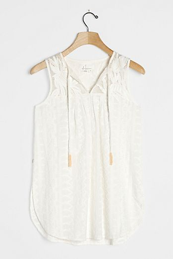 Embroidered & Lace Tops | Anthropologie UK