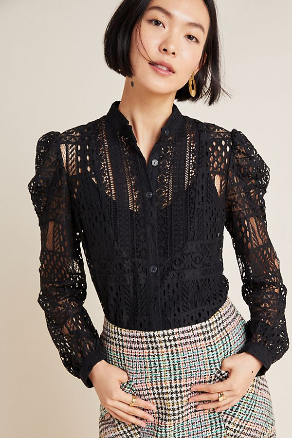 Slide View: 1: Cherie Lace Blouse
