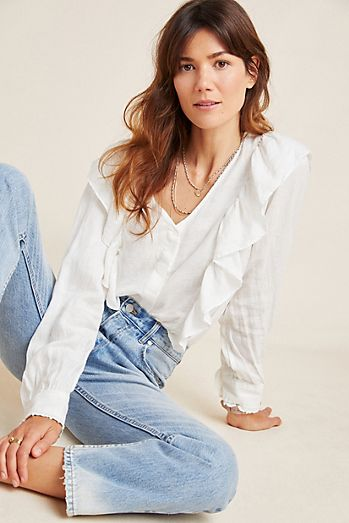 b09fdd0c6c4 White - Blouses For Women | Anthropologie