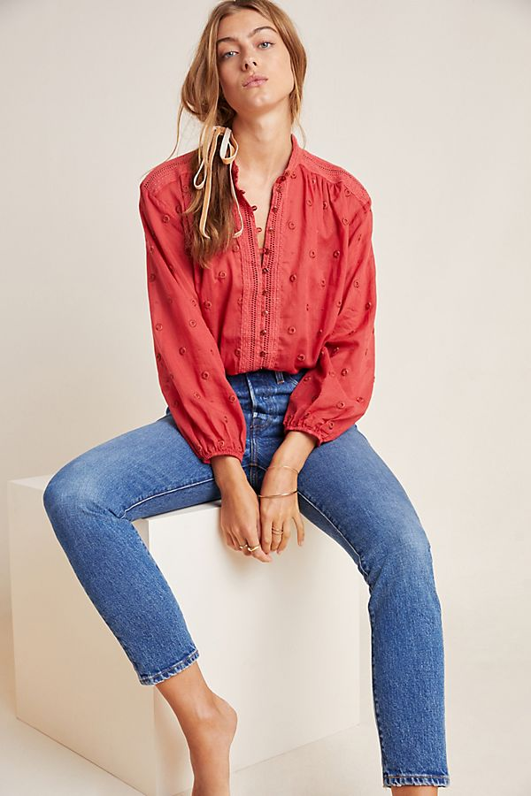 Slide View: 1: Auguste Embroidered Blouse