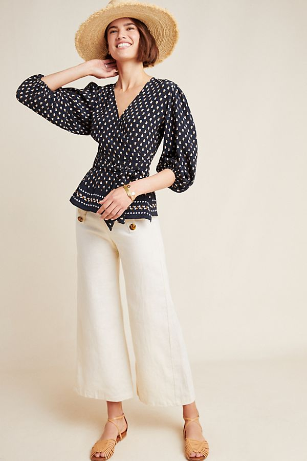 Slide View: 1: Faithfull Yvette Wrap Blouse