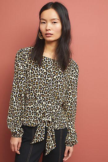 3c940938d6 Kachel Rosalie Leopard-Print Blouse