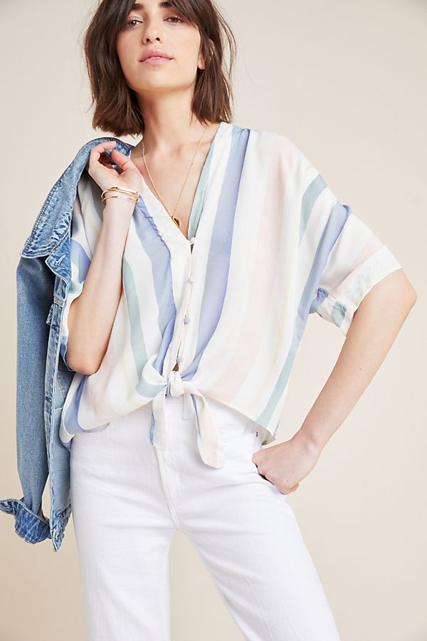 26382361b Rails Thea Striped Top | Anthropologie