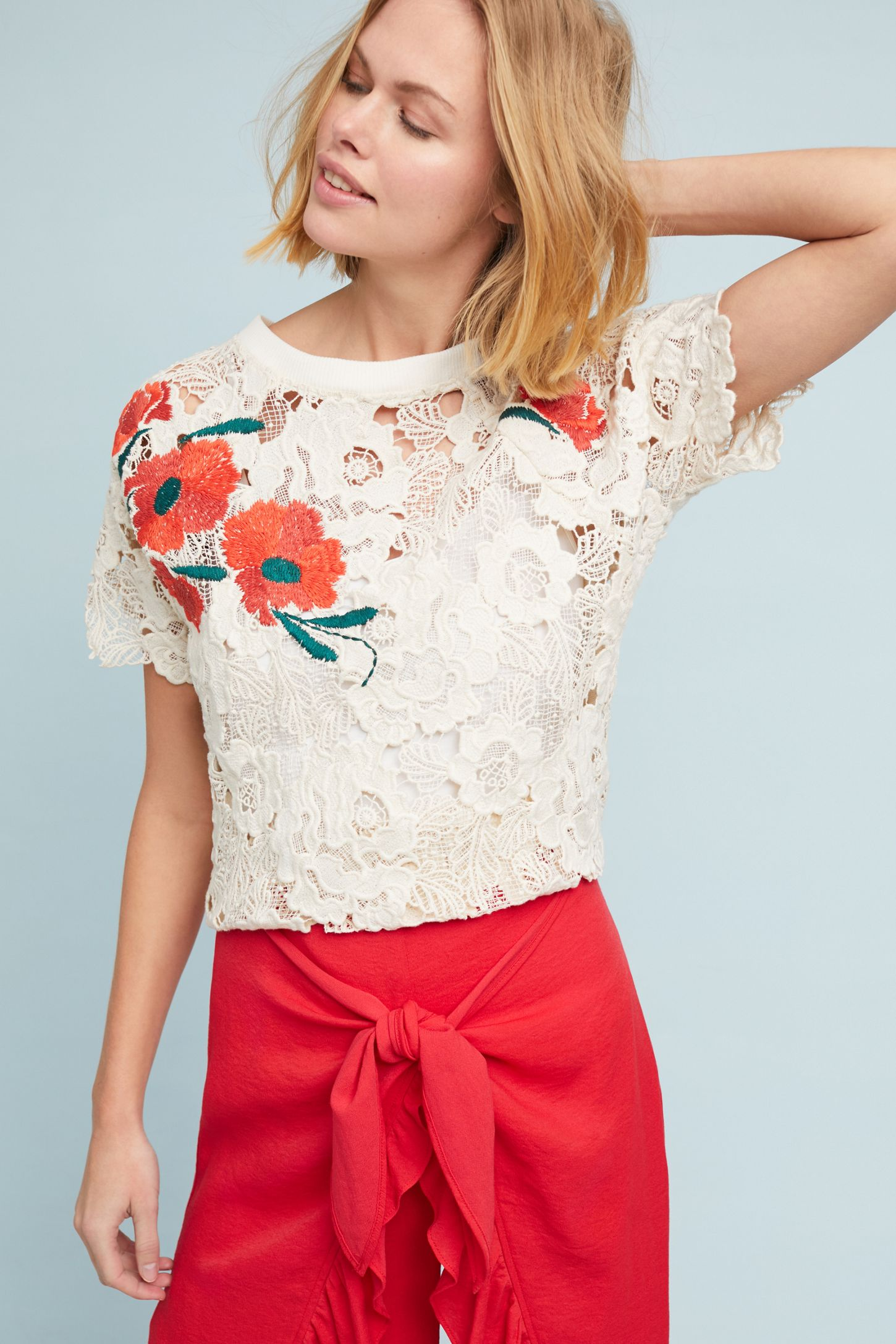 fe9681175660 Poppy Lace Top | Anthropologie
