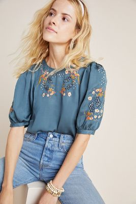 Kahlo Embroidered Blouse by Dolan Left Coast