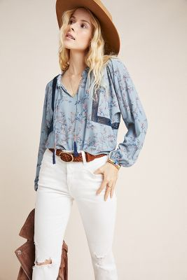 Daly Peasant Blouse by Dolan Left Coast
