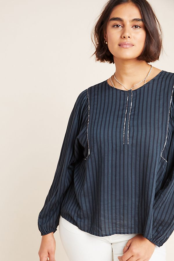 Slide View: 1: Rozanna Peasant Blouse
