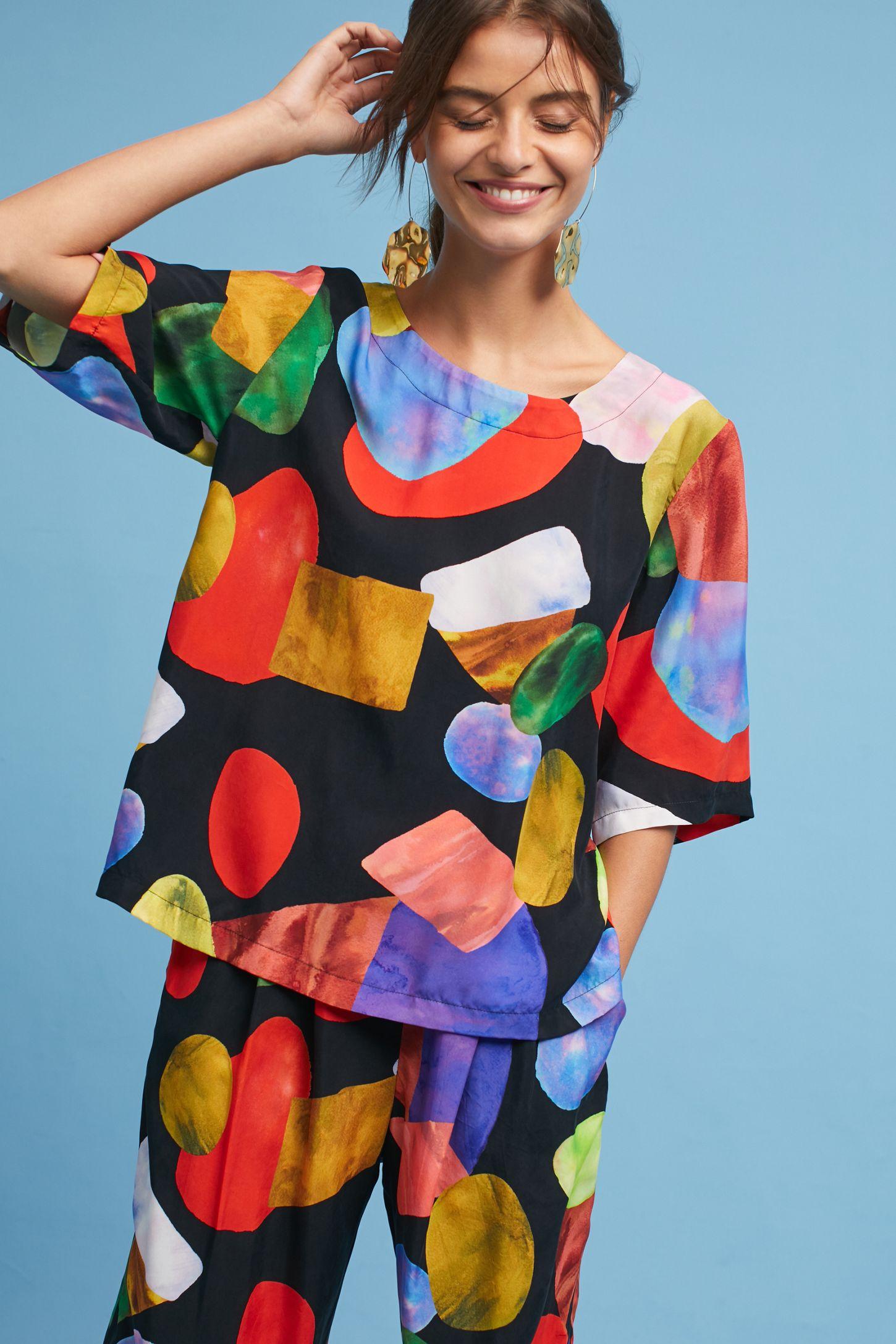 5f2b4cd4d5c Mara Hoffman Phillis Gem Shirt | Anthropologie