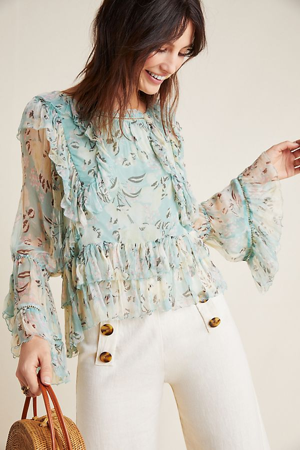 Slide View: 1: Danube Ruffled Blouse